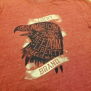 Lucky Brand Shirts & Tops - 🛍 Lucky Brand American Eagle logo tee - Small 7/8